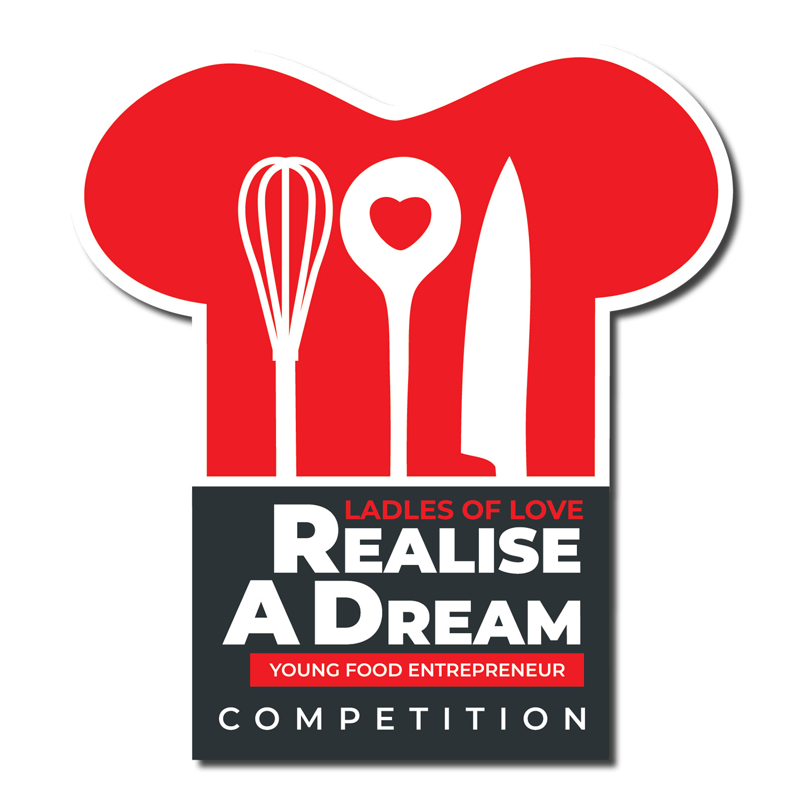 Chefs hat as a logo for the realise a dream competition to support local entrepreneurs in the food industry in cape town