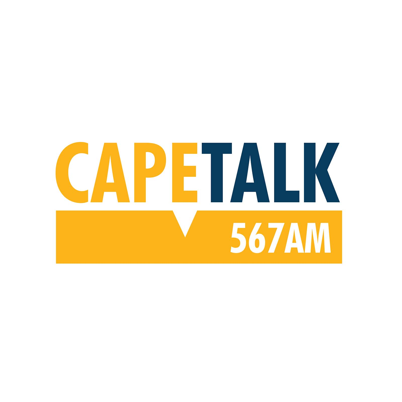 a yellow and blue logo of cape talk radio for the celebration and partnership for the ladles of love Mandela Day 2021 as they will be hosting an interview with us